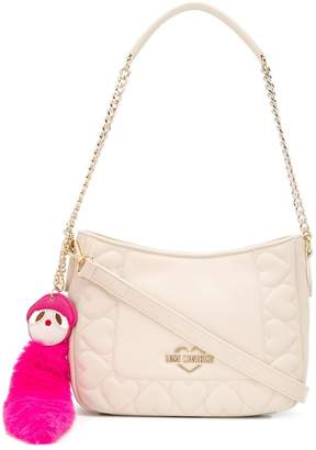 Love Moschino heart-stitched shoulder bag