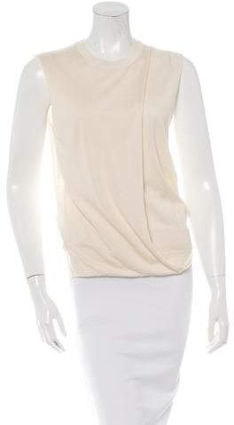 Celine Sleeveless Asymmetrical Sweater