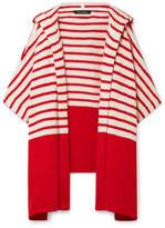 Tabula Rasa - Jahan Striped Cotton-blend Terry Hooded Wrap - Red