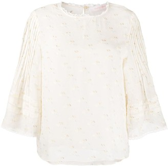 See by Chloe Pleated Sleeve Blouse