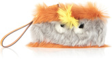 Anya Hindmarch Sunset Furry Shearling Eyes Clutch
