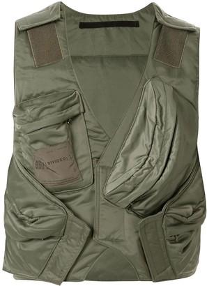 Julius cropped gilet jacket