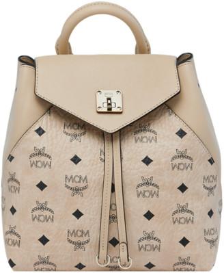 MCM Essential Backpack in Visetos Original