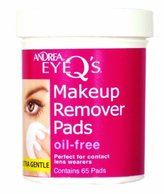 Andrea Eye Q's Moisturizing Eye Makeup Remover Pads, 65 Count by