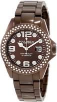 Haurex Italy Women's Ink Stones Aluminum Crystal Date Watch XK374DMM