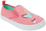 Honey Bunny Girls' Sneakers CORAL - Coral Unicorn Vica Slip-On Sneaker - Girls