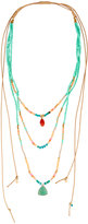 Nakamol Long Multi-Row Adjustable Beaded Necklace, Turquoise