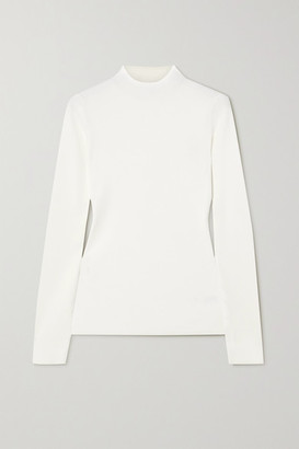 Theory Leenda Ribbed-knit Sweater - White