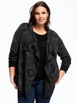 Old Navy Open-Front Plus-Size Cascading Cardi