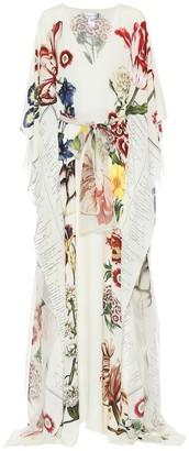 Oscar de la Renta Floral silk gown