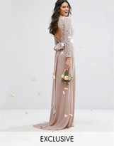 TFNC WEDDING Lace Maxi Dress With Bow Back