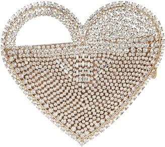Rosantica Regina Crystal Heart Clutch
