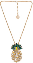 Anton Heunis Pineapple Pendant Necklace in Metallic Gold.