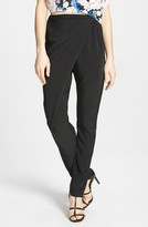 WAYF Wrap Front Tapered Crepe Pants