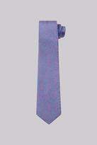 Moss Bros Pink & Blue Floral Skinny Tie