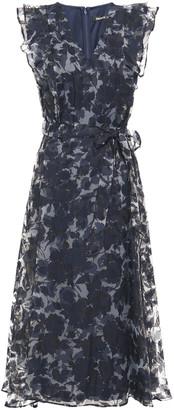 DKNY Ruffle-trimmed Burnout Organza Midi Dress
