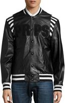 PRPS Metallurgy Leather Bomber Jacket