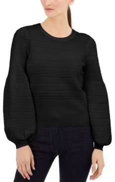 INC International Concepts Inc Solid Pointelle Ottoman Sweater, Created for Macy's