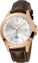 Ferré Milano Men's FM1G080L0031 Dial with Dark Brown Leather Band Watch.