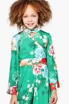 boohoo Girls Mixed Oriental Print Wide Sleeve Crop
