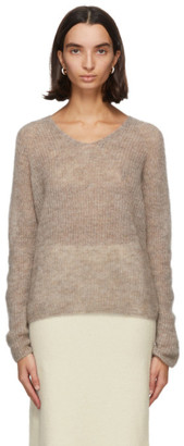 MAX MARA LEISURE Beige Mohair Nord Sweater