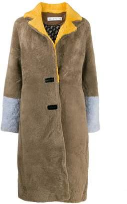 Saks Potts Febbe colour-blocked coat