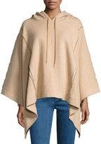 See by Chloe Hooded Rib-Knit Poncho, Camel