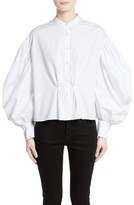 Burberry Women's Lillium Puff Sleeve Blouse