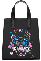 Kenzo Black Limited Edition Mini 'Tiger x I Love You' Tote