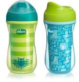 Chicco NaturalFit® 2-Pack 9 oz. Insulated Rim-Spout 9 oz. Trainer Cup in Teal/Green