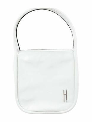 Hayward Patent Leather Handle Bag White