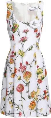 Prabal Gurung Floral-brocade Mini Dress