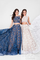 Terani Prom - Captivating Embroidery Bateau Polyester A-Line Gown 1711P2714