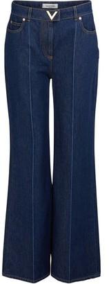 Valentino Wide-leg denim pants