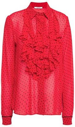 Ganni Mullin Ruffled Printed Georgette Shirt