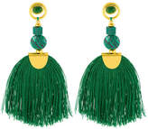 Henri Bendel Nectar Nectar Malachite with Tassle Earring