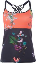 Ted Baker Tropical oasis floral sports strap top