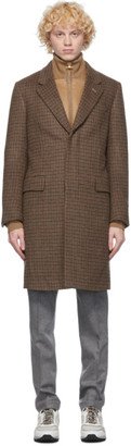 Dunhill Black and Brown Wool Coat