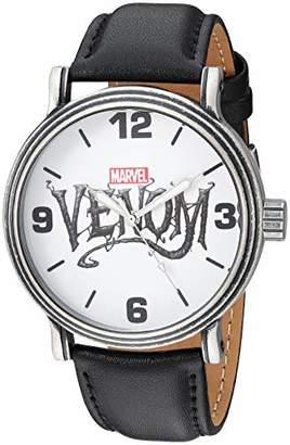 Marvel Men's Venom Analog-Quartz Watch with Leather-Synthetic Strap