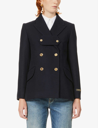Patou Iconic double-breasted wool and cashmere-blend jacket