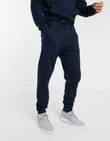 Le Breve two-piece slim fit jogger in navy