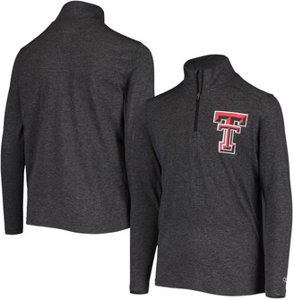 Champion Youth Black Texas Tech Red Raiders Field Day Quarter-Zip Jacket