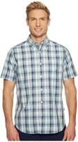 Nautica Short Sleeve Large Plaid Shirt Men's Clothing