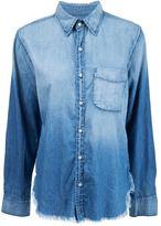 NSF 'Axel' frayed denim shirt