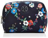 Tory Burch Brigitte Quinn Floral Print Nylon Cosmetic Case