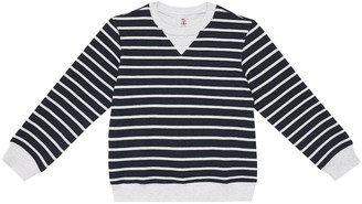 BRUNELLO CUCINELLI KIDS Striped cotton sweater