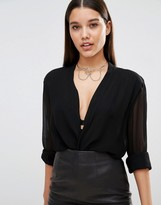 Missguided Chain Trim Choker necklace