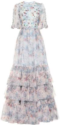 Costarellos Embellished floral organza gown