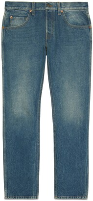 Gucci Tapered washed jeans