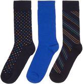Linea 3 Pack Zig Zag Spot Socks